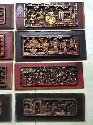 Rare Antique Chinese Wood Panel Lot (8pcs) Collectible Pieces!!! One of kind!!! 3