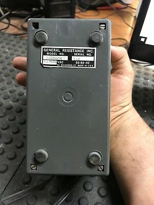 General Resistance Inc. Dial-An-Ohm Resistance Power Supply E-35Bch 2