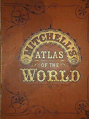 Vintage 1880 CHICAGO, ILLINOIS STREET MAP Old Antique Original Atlas Map 18 2