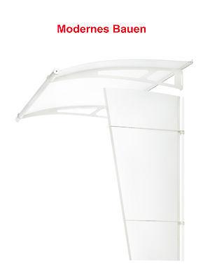 Breite 205 cm Schulte LT-LINE-XL Vordach Pultvordach Tiefe 142 Edelstahl//weiß