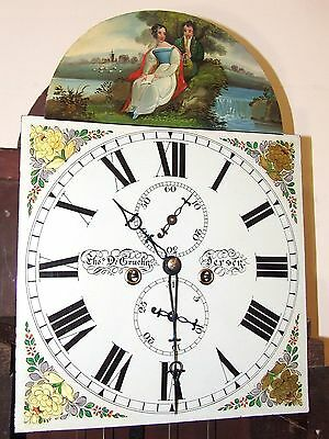 * Antique Inlaid Mahogany Longcase Grandfather Clock THOMAS DE GRUCHY JERSEY 4