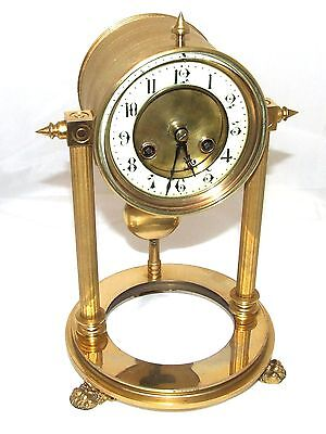 French Antique VINCENTI & CIE Drum Head Brass Striking Bracket Mantel Clock 3