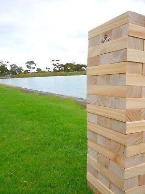 Giant Jenjo Wooden Tumbling Tower Game 63cm 3