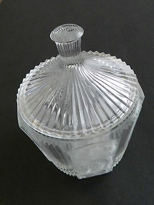 Pleat and Panel Cristal d'Arques Ribbed & Floral Pattern Covered Candy Dish
