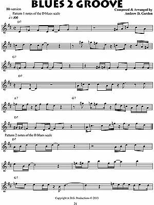 Learn These B Flat Blues Scale Tenor Sax {Swypeout}