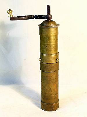 ANTIQUE 19`c ISLAMIC OTTOMAN EMPIRE BRONZE BRASS  Engraved COFFEE MILL GRINDER 2