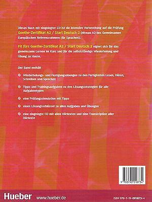 Hueber Fit Furs Goethe Zertifikat A2 Start Deutsch 2 Mit Cd Tipps