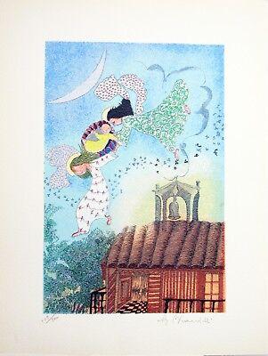 "ANGIOLA BERNARDELLI - ""Un bimbo in arrivo""  - Serigrafia cm 40x30 2"