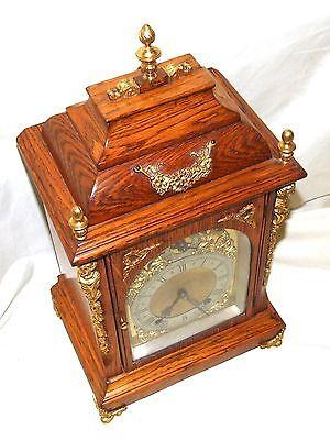 Antique Oak & Ormolu TING TANG Bracket Mantel Clock : Winterhalder W & H (a27) 9