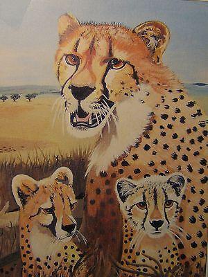 "C80   Original Acrylic Painting By Ljh   ""Bear""    Cat   Kitten 3"