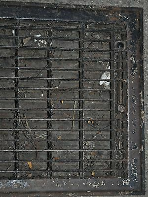Vintage Floor / Wall Heat Register Metal Vent  Antique Grate 3