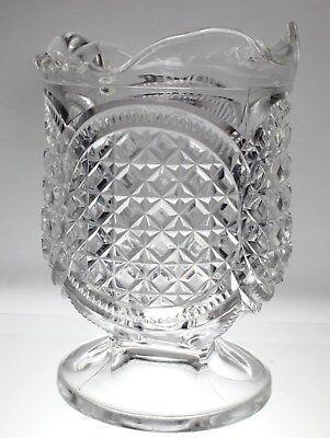 Antique American Brilliant Period Creamer PRESSED Glass 3