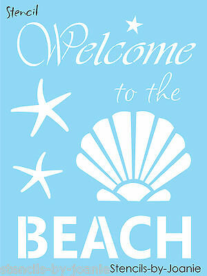 Beach Stencil 3 Starfish Seashell Tropical Ocean Lake House Sand Art Craft Signs