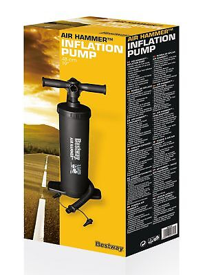 """Bestway Air Hammer Inflation Hand Pump 19"""" for Airbed, Swimming Pool etc 2"""