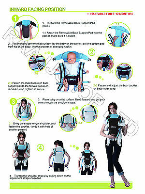 New Ergonomic Strong Breathable Adjustable Infant Newborn Baby Carrier Backpack 8