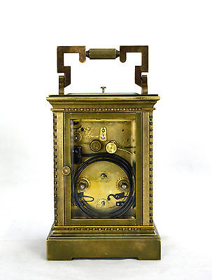 French Style Petite Sonnerie Striking Quarter Repeater Brass Carriage Clock 4