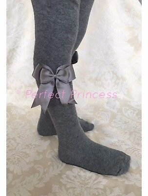 Spanish/Romany Baby Girls Double Bow Tights, School Uniform,