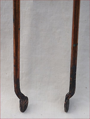 Victorian Fireplace Tools Tongs Copper Plate Iron England Late 19th C 4
