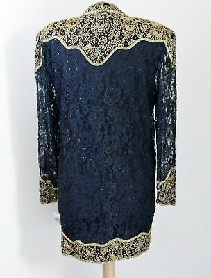"""Jasdee Vintage Jacket 32""""Inch Length Hand Work Bead & Sequins On Lace Style 5051 2"""