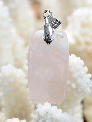 Quartz rose 54 carats Madagascar  BT81 pendentif cabochon pierre naturelle