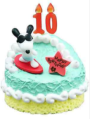 Swell Miniatures Peanuts Snoopy Birthday Cake Set Complete 1 Box 8 Pcs Personalised Birthday Cards Paralily Jamesorg