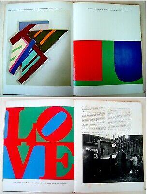 1973 Fine ROBERT INDIANA & HANS HARTUNG original LITHOGRAPHS XX Siecle ART BOOK 4