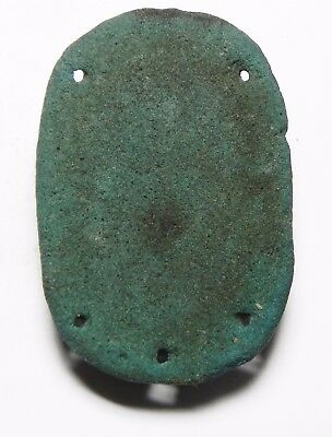 Zurqieh -Asw31- Ancient Egypt , Large Faience Winged Scarab. 600 - 300 B.c
