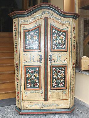 Alter Antiker Bauernschrank Bemalt Malerei 1830 Wäscheschrank Bayern Landhaus 2