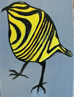 "C360      Original Acrylic  Painting By Ljh  ""Birds Of A Feather"" 7"