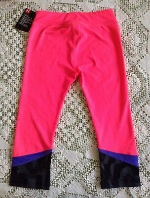 NWT UNDER ARMOUR Girl's Crop Pant Leggings Pink Size 4 Retail $27 7