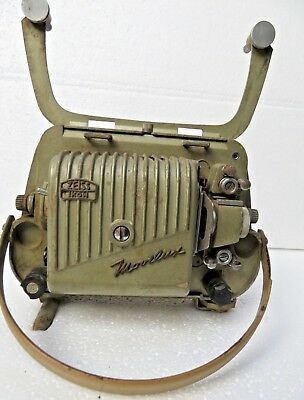 Vintage Zeiss Ikon Ag Germany Movielux Green Color Film Projector Collectible