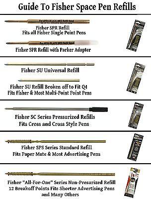 Fisher Space Pen #AFP5 Emballé / Rouge Blanc & Bleu Click Action Stylo à Bille 9