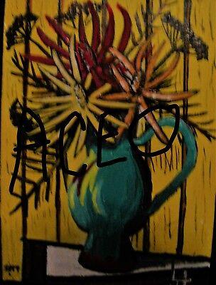 "C394        Original Acrylic Painting By Ljh    ""Purple Haze''      Still Life 12"