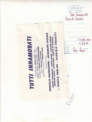 """©Pierluigi 1959, Marcello Mastroianni et divers """"TUTTI INNAMORATI"""" 6 tirages 8"""