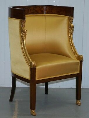1870 French Empire Marquetry Inlaid Suite Pair Berger Armchairs & Settee Canape 7