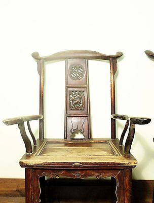 Antique Chinese High Back Arm Chairs (5701), Circa 1800-1849 2