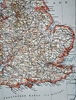 1900 Meyers Map England Wales London Liverpool Oxford Newcastle Great Britain 3