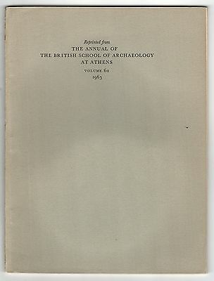 1965 ANNUAL BRITISH SCHOOL Archaeology ATHENS GREECE Greek ARCHEOLOGY Old Smyrna