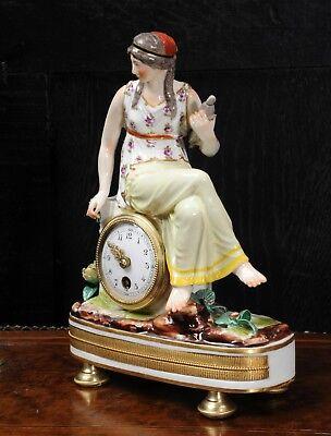 Rare Vienna Porcelain Boudoir Clock C1880 3