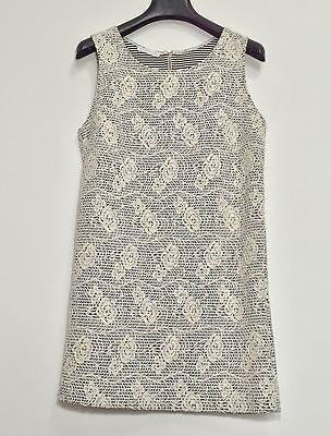 Promod abito vestito corto fiori rose dress kleid manica corta tg S hot T802 3