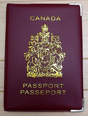 Canadian Canada Plastic Vinyl Passport Cover Protector Holder Sleeve - Red 6