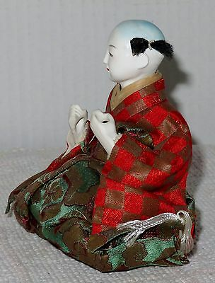 """Antique Japanese Seated 4.5"""" Musician Drummer Hina Doll BH4#AD4161415.8 3"""
