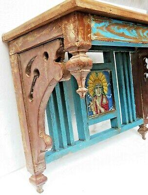 Reclaimed shabby chic Wooden Rack kitchen / bathroom lintel Wood top decor tile 2