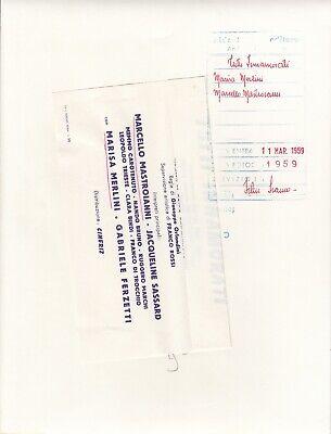 """©Pierluigi 1959, Marcello Mastroianni et divers """"TUTTI INNAMORATI"""" 6 tirages 10"""