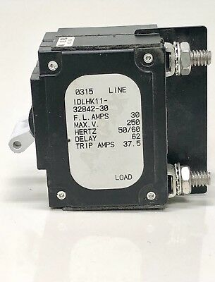 Airpax 15 Amp Dual Boat Circuit Breaker Switch White Toggle IEGHF66-33501-15-V