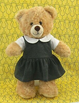 SEWING PATTERN TEDDY bear clothes school girl dress cardigan fits build a  bear - £6.19 | PicClick UK