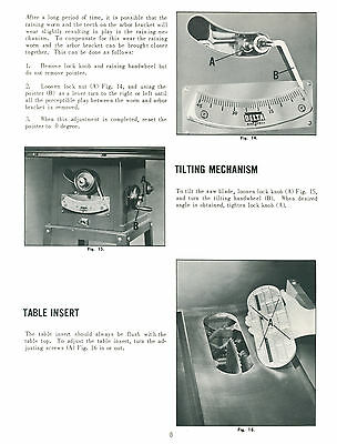 Delta Rockwell 34 600 9 Table Saw Operator Parts Manual Later Model