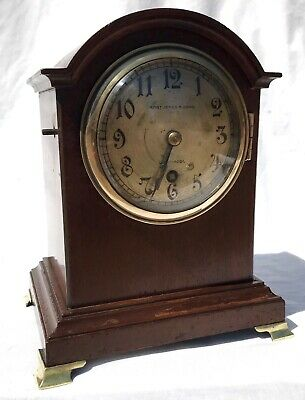 Antique W&H Winterhalder Hofmeier Bracket Mantel Clock Robert Jones Liverpool 2