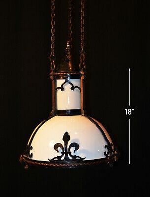 1930s Gothic Arts & Crafts 5 Light Chandelier