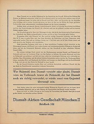 MÜNCHEN II, Prospekt 1936, Diamalt AG Diamalt Bäcker-Müller 2